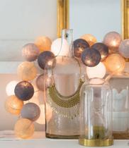 Luminária Fio Cordão de Luz de 20 bolas Cormilu Manuca - A PILHA -