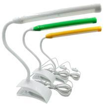 Luminária Flexível Com Clipe Prendedor 13 Leds Para Leitura - Exclusivo