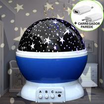 Luminária Infantil Projetor Abajur Criança Estrelas Azul CBRN10677 - Commerce Brasil