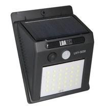 Luminária Lampada Solar com Sensor de Parede 30 Leds Arandela horas Energia A Noite - Solar Motion Sensor Light