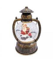 Luminária Lamparina Papai Noel 20cm Enfeite Decoração - Taimes