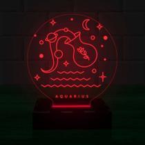 Luminária Led 3d Aquario  1 COR VERMELHO - 3D Fantasy