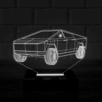 Luminária Led 3d Carro 1 Cor Branco - 3D Fantasy