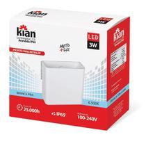 Luminária Led Arandela de Sobrepor 3W 3000K Branca 2 Focos IP65 Kian -