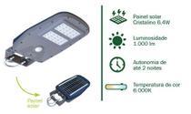 Luminaria led solar integrada (postes 2-3m) - Ecoforce