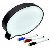 Luminária Light Box Formato Quadro Balão De Mensagem e Fala Com Caneta - Novo Século