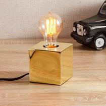 Luminária Light Cube Dourada - Etna