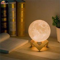Luminária Lua Cheia 3D tamanho 7 cm - Asotv