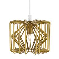 Luminária Lustre Pendente 14X12Cm Metal Dourado - Mart