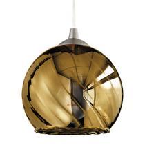 Luminária Lustre Pendente 15X15,5X15Cm Vidro Dourado - Mart