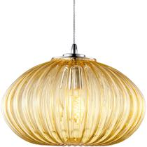 Luminária Lustre Pendente 34,5X25X34,5Cm Vidro Champanhe - Mart