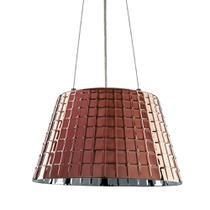 Luminária Lustre Pendente 35X22X35Cm Vidro Cobre - Mart