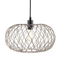 Luminária Lustre Pendente 35X24,5X35Cm Metal Cobre - Mart
