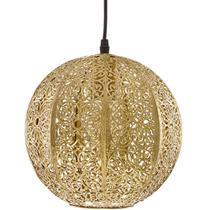 Luminária Lustre Pendente Antigo 24X26X24Cm Metal Dourado - Mart