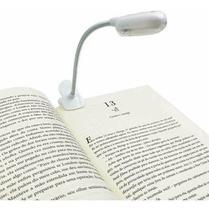 Luminária Luz Led para Leitura Prendedor Clips Livro Flexível - JX