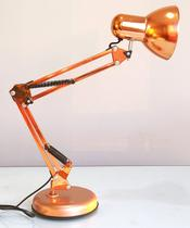 Luminária Mesa 2x1 Metal Abajur Lâmpada Articulável Base Garra Flex MT-811c - Gimpo