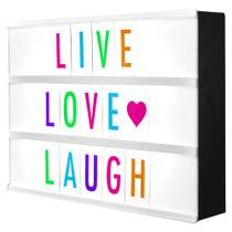 Luminária Palavras Letras Light Box Cinema Letreiro Led - Negócio De Gênio