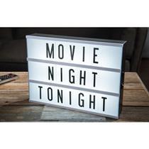 Luminária Palavras Letras Light Box Cinema Letreiro Led - Novo seculo