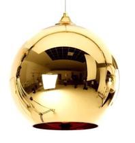 Luminária Pendente 15cm Globo Vidro Bola Dixon Led Espelhada Dourada Gimpo MH601-15G -