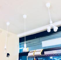 Luminária / Pendente de lâmpada cor branco - 3446 - Prolumen