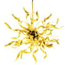 Luminaria Pendente de Teto Soq: G9 - Amarelo  Mod: Medusa - E-Led Brasil