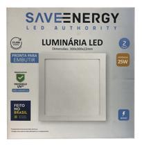 Luminária Plafon 25 w Led Sobrepor -Save Energy -