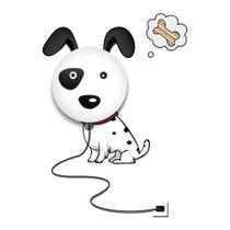 Luminária Plafon infantil Dog  1 Lâmpada - Bella Light