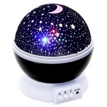 Luminária Projetor Abajur Estrelas Galáxia Universo Céu Criança Rotativa 360 - Preto - Smart Bracelet