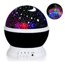 Luminária Projetor Estrela 360 Galaxy Star Master Preta - Top Total