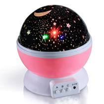 Luminária Projetor Estrela 360 Night Light Rosa - Top Total
