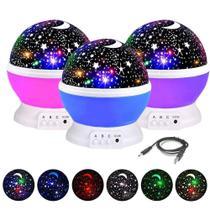 Luminária Projetor Estrela Abajur Universo Ceu 360 Luz - Nm