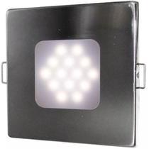 Luminária Quadrada Inox De Embutir 14 LEDS Acionamento Touch - Narva