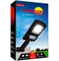 Luminaria Refletor Solar 100W Potente Poste Parede Led Preta Oversun -