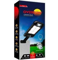 Luminária Refletor Solar 200w Potente Controle Remoto Poste Parede Led  Preta Oversun -
