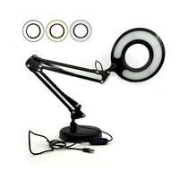 Luminária Ring Light Articulada Led de Mesa USB 5W 3 Tons Regulável Para Leitura Escritório Estudo Selfie -