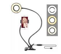 Luminária Ring Light Com Suporte Para Celular De Mesa Selfie 2 en1 - Zem