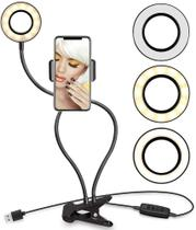 Luminaria Ring Light + Youtuber Suporte Celular Selfie - Getit Well