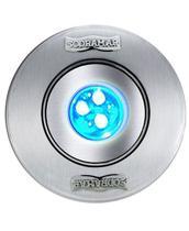 Luminária Sodramar hiper Led RGB 9W corpo abs 50mm -cabo 1,5M - (Frontal Inox) -