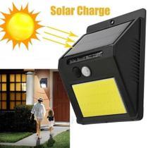 Luminária Solar 48 Leds Arandela Parede Muro Com Sensor Presença Resistente Sol e Chuva - Xtrad
