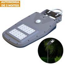 Luminária Solar Iluminação Pública Integrada Automática 30 LEDs 10w Com Sensor Movimento Placa Fotovoltaica - Ecoforce
