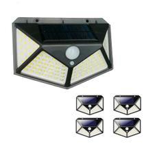 Luminaria Solar Kit com 5 Unidades Sensor de Movimento 3 Funçoes Lampada  Presença Parede LED Prova d'Agua Iluminaçao - Economia Solar