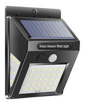 Luminária Solar Parede 40 Led Sensor Presença C/2 Funções 8w - Golden Sky
