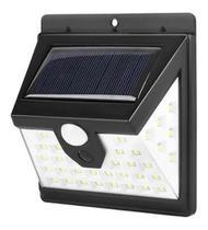Luminária Solar Parede 40 Smd Sensor Presença 3 Funções 8w - GoldenSky