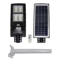 Luminaria Solar Poste Com Suporte Placa Completa LED 200W Sensor Controle Jardim Rua - Economia Solar