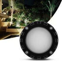 Luminária Spot LED Sobrepor Iluctron Branco Quente Bivolt 10W 3000K Preto Parede Escada Solo -