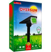 Luminária Spot Solar 60w Potente Jardim Led Verde Oversun -