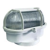 Luminaria Tartaruga Pvc Shintech Branca Com Vidro   Tpb1vq - Rcdeletrica