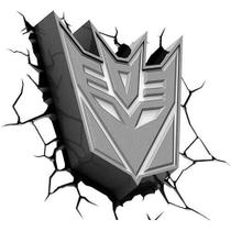 Luminária Transformers - 3D Light Decepticon Shield - Outros