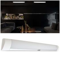 Lúminaria Tubular Led Linear Sobrepor 40W 60Cm Branco Frio 6500K Iluctron Batten Light Ip20 Bivolt -