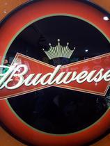 Luminoso Budweiser Colorido - Arte Em Neon